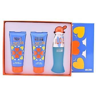Moschino - I Love Love Gift Set EDT 50ml, Lotion pour le corps I Love Love 100 ml et gel douche I Love Love 100 ml - 50ML
