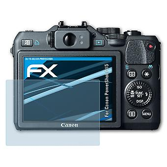 atFoliX Glass Protector compatible with Canon PowerShot G15 Glass Protective Film 9H Hybrid-Glass