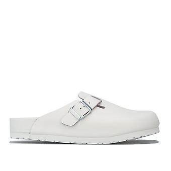 Kvinner&s Birkenstock Boston NL utsøkte sandaler i hvitt