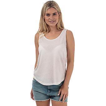 Vrouwen's Vero Moda Rebecca Stripe Jersey Vest in Het Wit
