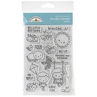 Doodlebug Clear Doodle Stamps - Oh! Boy