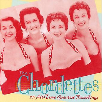 Chordettes - 25 All-Time Greatest Recording [CD] USA import