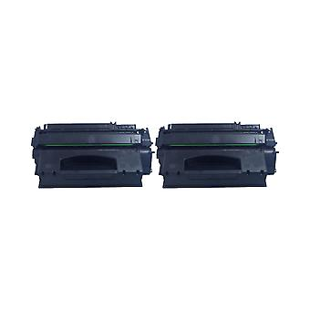 RudyTwos 2x Replacement for HP 49A Toner Unit Black Compatible with Laserjet 1160, 1320, 1320N, 1320NW, 1320TN, 3390, 3390AIO, 3392AIO
