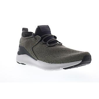 Skechers Nichlas Lishear  Mens Green Canvas Athletic Cross Training Shoes