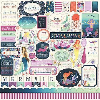 Echo Park Mermaid Dreams 12x12 Pollici Element Sticker