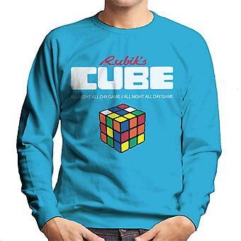 Rubik ' s all night all day Game mannen ' s Sweatshirt