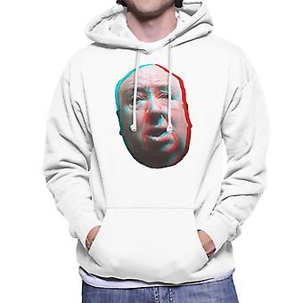 Alfred Hitchcock ansikte 3D effekt Mäns Hooded Sweatshirt