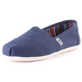 Toms Classic Womens Slip On Shoes in Navy