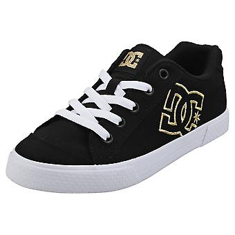 DC Shoes Chelsea Tx Womens Casual Trainers in Black Gold