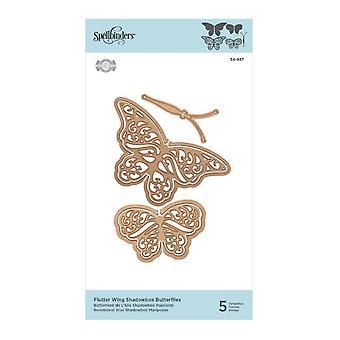 Spellbinders Flutter Wing Shadowbox Perhoset