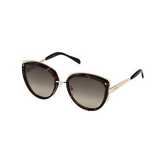 Emilio Pucci - accessoires - zonnebrillen - EP0093_52F - dames - zadelbruin, goud