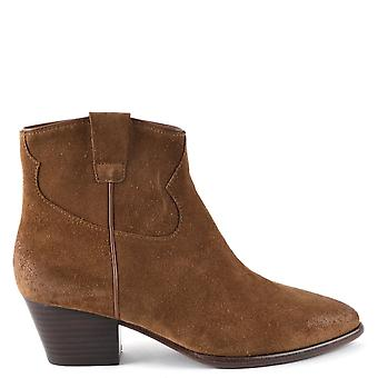 Ash HOUSTON Boots Brushed Russet Suede
