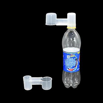 Portable Plastic Transparent Water Bottle Bird Feeder Poultry Pigeon Waterer