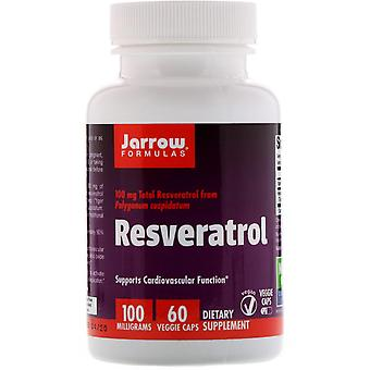Formules Jarrow, Resvératrol, 100 mg, 60 Bonnets végétariens
