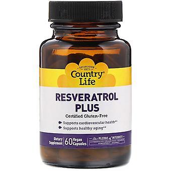 Country Life, Resveratrol Plus, 60 Vegan Kapseln