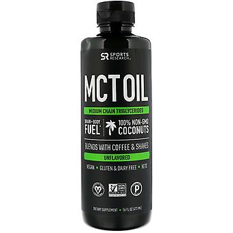 Sports Research, MCT Oil, Unflavored, 16 fl oz (473 ml)