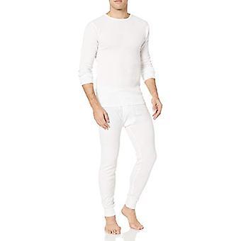 Essentials Men's Standard Thermal Long Underwear Set, White, Medium