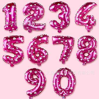 16 tommers digital ballong bryllup / bursdag med tall ballong