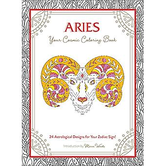 Aries Your Cosmic Coloring Book by Woods & Mecca
