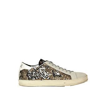 P448 Ezgl204008 Women's Grey Sequins Sneakers
