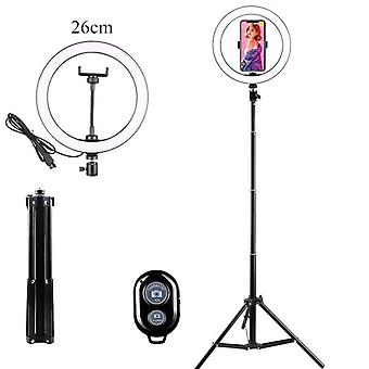 Usb Led Light Ring Photography Flash Lamp With 130cm Tripod Stand For Makeup Youtube Vk Tik Tok Video Dimmable Lighting