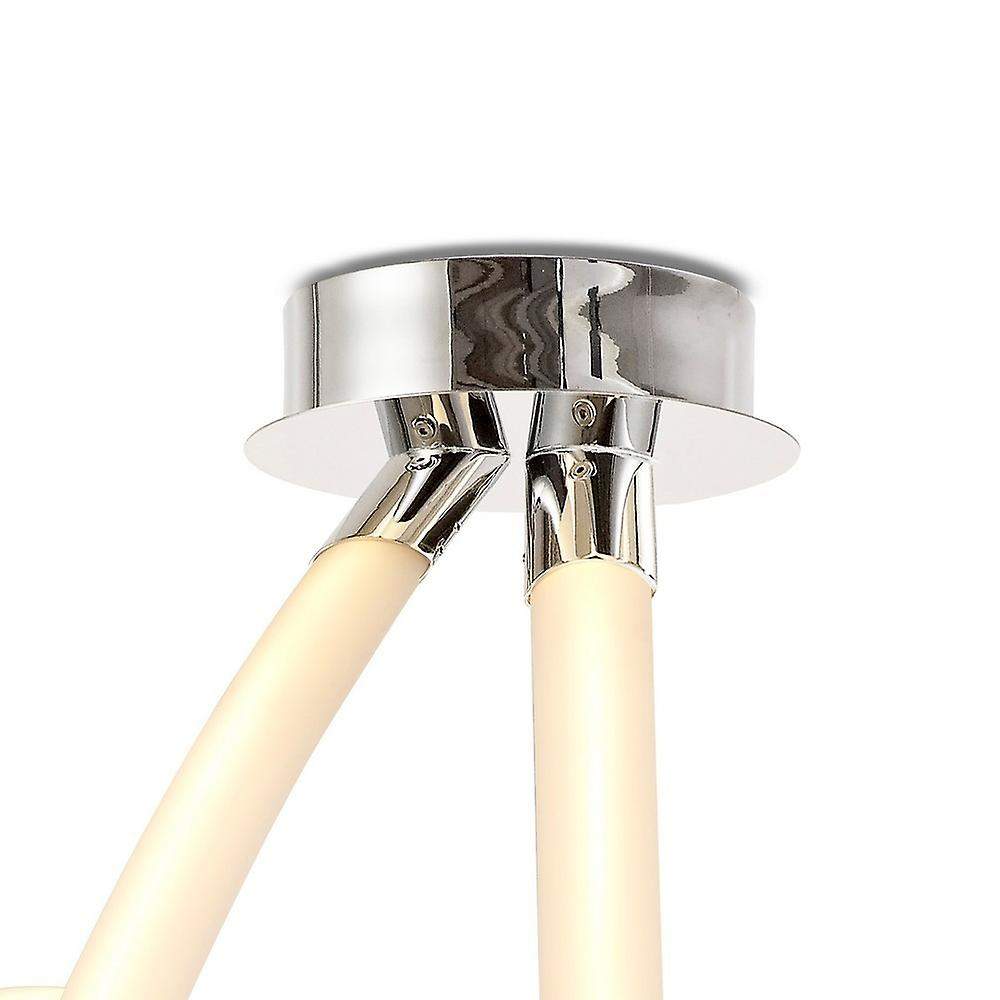 Semi Flush Ceiling Spiral, 60W LED, 3000K, 4500lm, Polished Chrome, Frosted Acrylic
