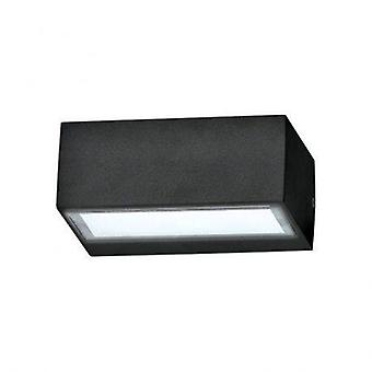1 Light Outdoor Twin Up Down Wall Light Black IP44, G9