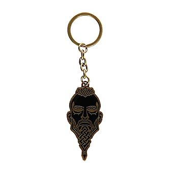 Assassins Creed Valhalla Keychain Keychain Face Logo new Official Metal