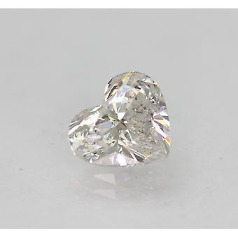 認定済み 1.06 カラット F VS2 ハートシェイプ ナチュラルルーズ ダイヤモンド 7.07x6.26mm 2VG