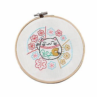 Hand Embroidery Kits with Accessories 15x15cm