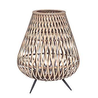 Lantern wood/bamboo on legs 47 cm