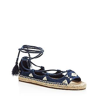 Soludos | Embroidered Tie Up Sandals