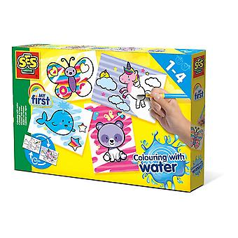 SES Creative Children's My First Colouring with Water Fantasy Animals Set 14454