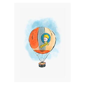 Der kleine Prinz Heißluftballon A4 Druck