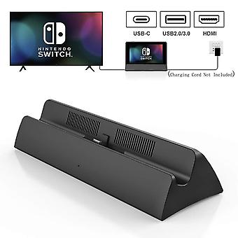Vogek For Switch Hdmi Charging Dock Station Type-c To Hdmi Video Adapter Conversion Charger Base Stand For Nintend Switch Host