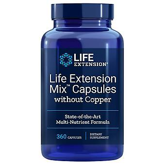 Life Extension Mix Capsules without Copper, 360 Caps