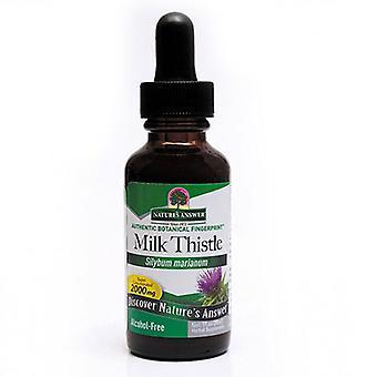 Nature's Answer Milk Thistle, الكحول مجاناً, 1 OZ