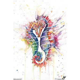 Sanguine Seahorses Plakat Marc Allante 91,5 x 61 cm