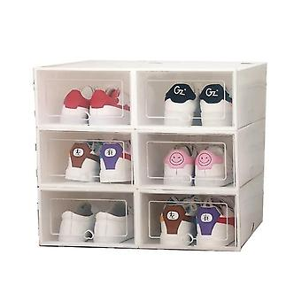 Flip Shoes Box, Thickened Transparent Drawer Case Plastic Shoe Boxes, Stackable