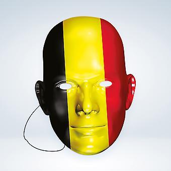 Masque-arade Belgique Drapeau Party Face Mask