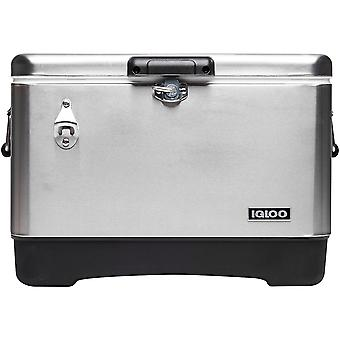 IGLOO Legacy 54 qt. Hard Cooler - Stainless Steel