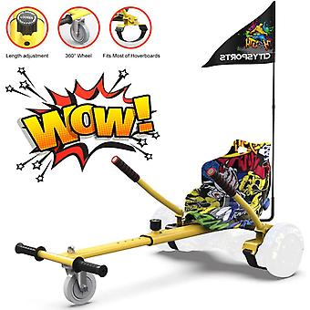 CitySport HoverKart for All Size Hoverboards with Flag-Hip