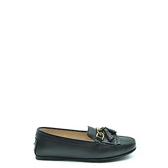 Tod's Ezbc025116 Women's Black Leather Loafers
