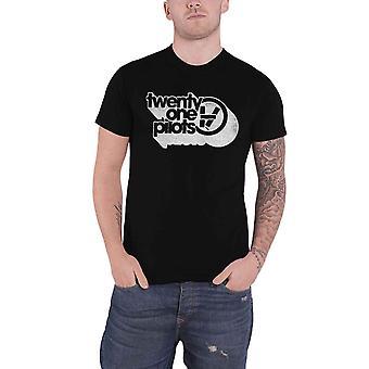 Twenty One Pilots T Shirt Vessel Vintage Band Logo uusi virallinen Mens Black