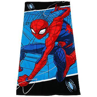 Spider-Man On The Web Beach Towel