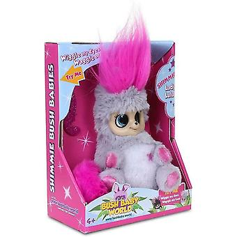 Bush Baby World Shimmies Soft Toy  Moveable Eyes & Ears - Pink lady Lu Lu