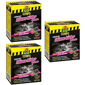 Sparset: 3 x COMPO Cumarax® hiiri-syötti viljat, 120 g