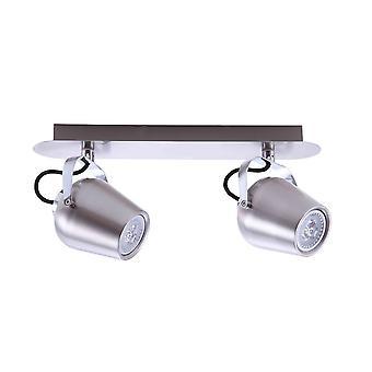 Italux Josie - Moderne Strahler Satin Nickel 2 Licht LED, GU10