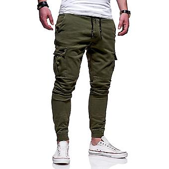 Mens Autumn Thin Cotton Casual Pants Trousers Jogger