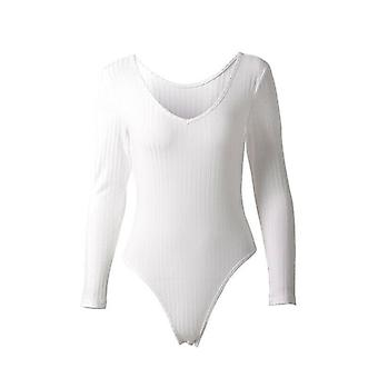 Herfst Winter Sexy Off Shoulder Bodysuits Skinny Stretch Long Sleeve Vrouwen